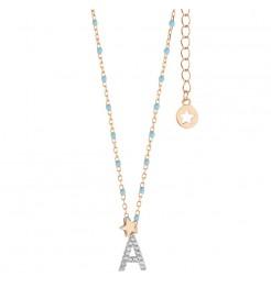 Collana Comete gioielli Stella lettera A donna GLA 173