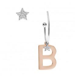 Orecchini Comete gioielli Stella lettera B donna ORA 149