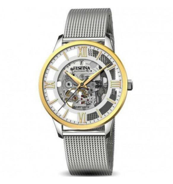 en persona monitor  Festina F20537/1 orologio Automatico uomo ⌚| Clessidra