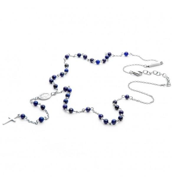 Collana 4US Cesare Paciotti blue rosary uomo 4UCL3750