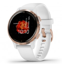 Smartwatch Garmin VENU 2S rose gold and white 010-02429-13
