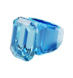 Anello Swarovski Lucent blu donna