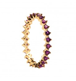 Anello PDPaola Citric violet bird donna AN01-136