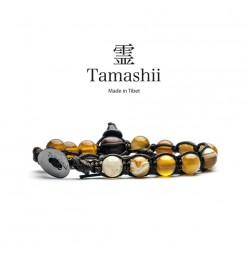 BRACCIALE TAMASHII AGATA GIALLA STRIATA BHS900-155