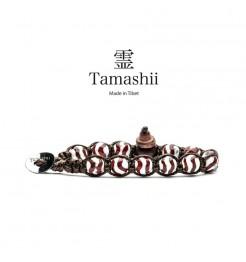 BRACCIALE TAMASHII PAINTED CORNIOLA STRIATA BIANCO BHS900-172