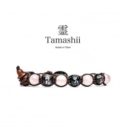 BRACCIALE TAMASHII MANTRA QUARZO ROSA BHS200-33