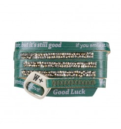 BRACCIALE WE POSITIVE MOONLIGHT ML007 COLORE PINEGREEN