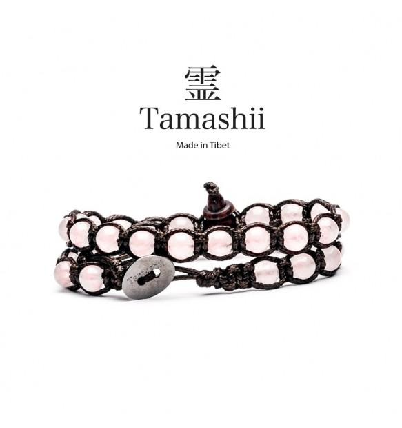 BRACCIALE TAMASHII LUNGO QUARZO ROSA BHS600-33