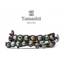 BRACCIALE TAMASHII LUNGO TURCHESE AFRICANO BHS600-75