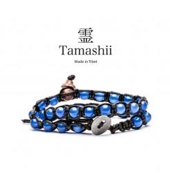 BRACCIALE TAMASHII LUNGO AGATA BLU BHS600-18