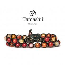 BRACCIALE TAMASHII LUNGO AGATA ROSSA STRIATA BHS600-118