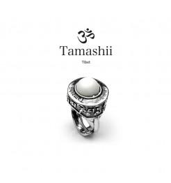 Anello Tamashii pan zvaa rhs903-14 argento e agata verde