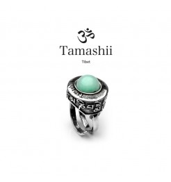 Anello Tamashii pan zvaa rhs903-53 argento e agata blu
