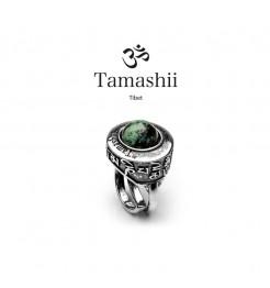 Anello Tamashii pan zvaa rhs903-75 argento e turchese africano