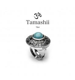 Anello Tamashii pan zvaa RHS904-07 argento e turchese