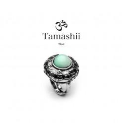 Anello Tamashii rig zva RHS905-53 argento e agata azzurra