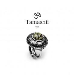 Anello Tamashii rig zva RHS905-75 argento e turchese africano