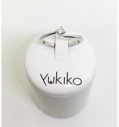 Anello Yukiko diamanti in oro bianco lid1987YD12