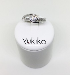 Anello Yukiko diamanti in oro bianco lid5118y040g7