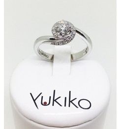 Anello Yukiko diamanti in oro bianco lid5115Y30