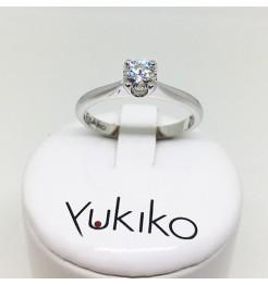 Anello Yukiko diamanti in oro bianco lid5120y040g7