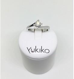 Anello Yukiko diamanti in oro bianco lid5119y050f5