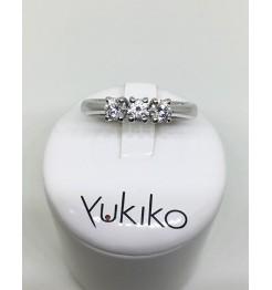 Anello Yukiko diamanti in oro bianco lid5099y020g4