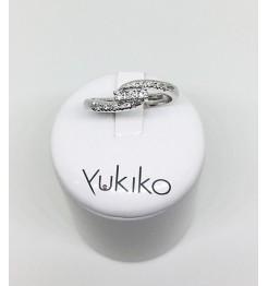 Anello Yukiko diamanti in oro bianco lid2371y012