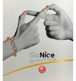 BRACCIALE GONICE INFINITE LOVE INFINITO RUTENIO BIANCO KBT03