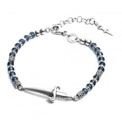 Bracciale Cesare Paciotti rosary blue JPBR1670V