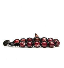 Bracciale Tamashii agata rosso scuro BLACKS900-213