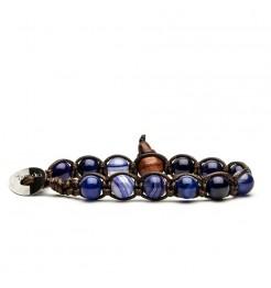Bracciale Tamashii agata blu striata bhs900-216