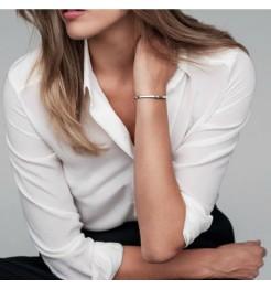 Bracciale indossato Daniel Wellington Classic silver gioiello donna