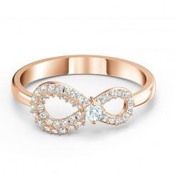 Anello Swarovski Infinity rose gold gioielli donna