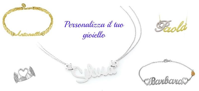gioielli personalizzati |collane con nome | Anelli e bracciali personalizzati