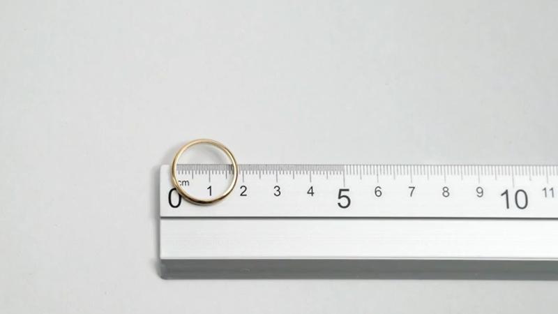 misura anello su righello